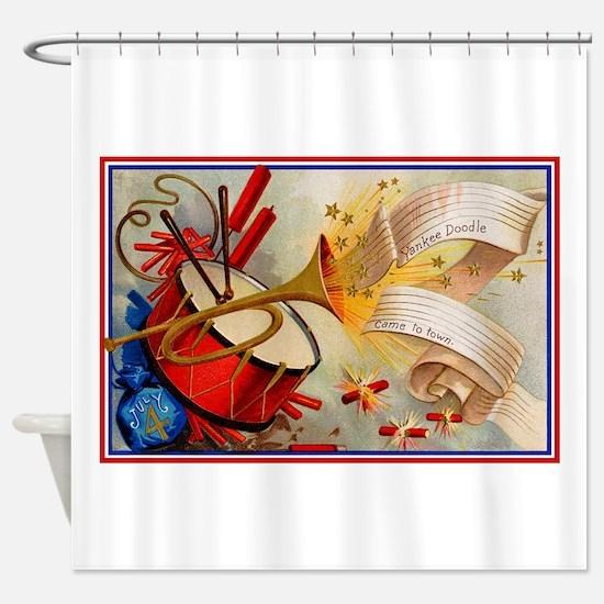 Yankee Doodle Patriotic Shower Curtain