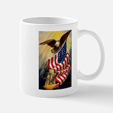 FIN-flag-usa-eagle Mugs