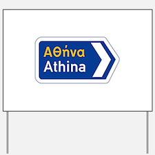 Athens, Greece Yard Sign