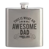 Coolest dad ever Flask Bottles