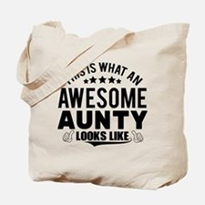 THIS IS WHAT AN AWESOME AUNTY LOOKS LIKE Tote Bag