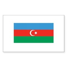 Azerbaijani Flag Rectangle Decal