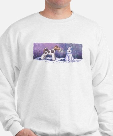 Cute Wire fox terrier silhouette Sweatshirt