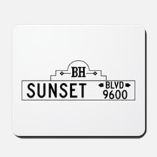 Sunset Blvd, Los Angeles, CA Mousepad