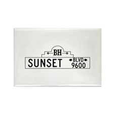 Sunset Blvd, Los Angeles, CA Rectangle Magnet