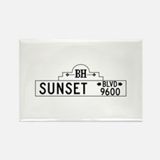 Sunset Blvd, Los Angeles, CA Rectangle Magnet