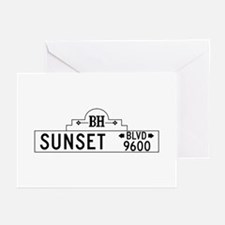 Sunset Blvd, Los Angeles Greeting Cards (Pk of 10)