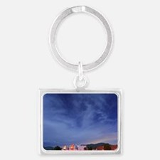 Cute Observatory Landscape Keychain
