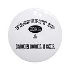 Property of a Gondolier Ornament (Round)