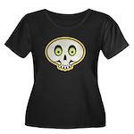 Skull Halloween Women's Plus Size Scoop Neck Dark