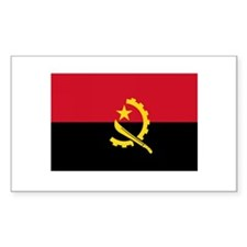 Angolan Flag Rectangle Decal