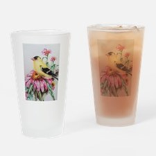 Goldfinch on Coneflower Drinking Glass