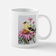 Goldfinch on Coneflower Mugs