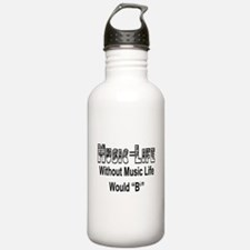 Music=Life Water Bottle