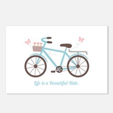 Life is a Beautiful Ride Bicycle Quote Postcards (