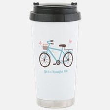Life is a Beautiful Ride Bicycle Quote Travel Mug