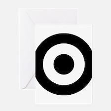 Black Mod Target Greeting Cards