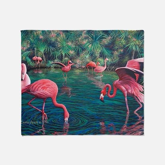 Cute Flamingo Throw Blanket