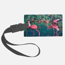 Unique Flamingo Luggage Tag
