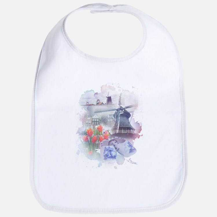 Cute Windmills Bib