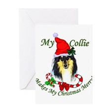 Funny Collies Greeting Card