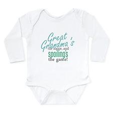 Cute Great grandmother Long Sleeve Infant Bodysuit