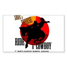 Save Bob's Horse Rectangle Decal