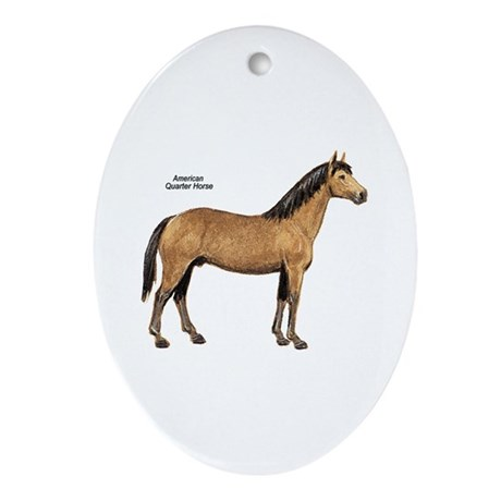 American Quarter Horse Oval Ornament