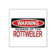"""Unique Rottweiler Square Sticker 3"""" x 3"""""""