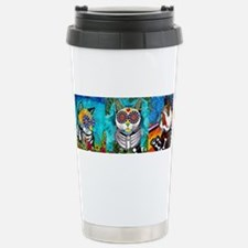 Funny Sugar skull cat Travel Mug