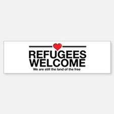 Refugees Welcome Bumper Bumper Bumper Sticker