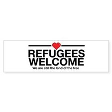 Refugees Welcome Bumper Car Sticker