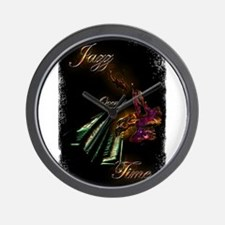 Piano Jazz over Time by Bluesax Wall Clock
