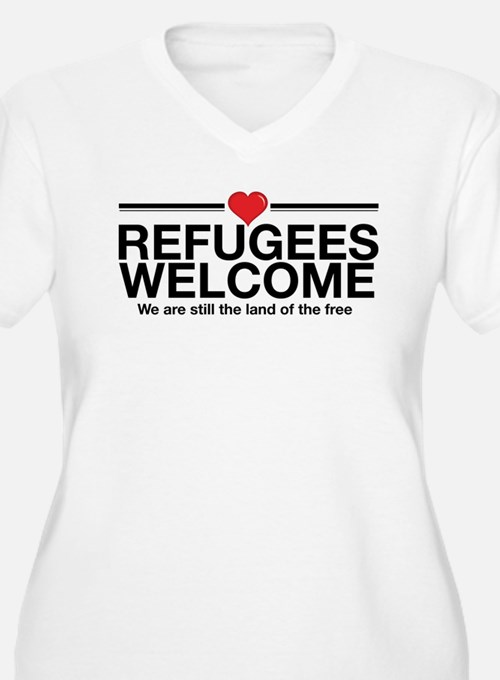 Refugees Welcome Plus Size T-Shirt
