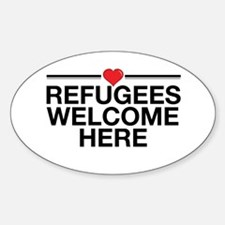Refugees Welcome Here Decal