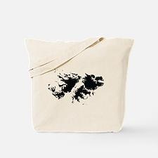 Falkland Islands Silhouette Tote Bag