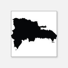Dominican Republic Silhouette Sticker