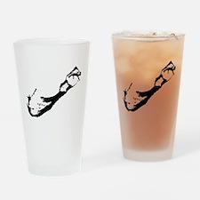 Bermuda Silhouette Drinking Glass