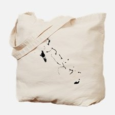 Bahamas Silhouette Tote Bag