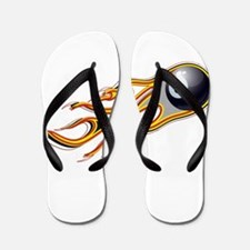 Fiery EIGHT BALL Comet Flip Flops