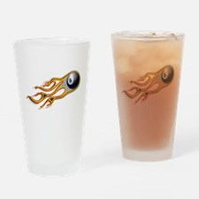 Fiery EIGHT BALL Comet Drinking Glass