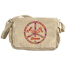 Peace Love Libraries Messenger Bag