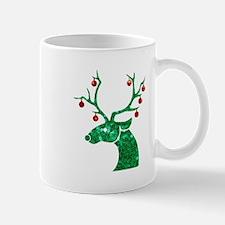sequin christmas reindeer Mugs