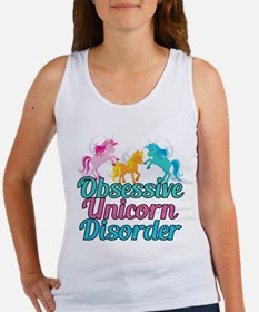 Cute Unicorn Teal Pink Women's Tank Top