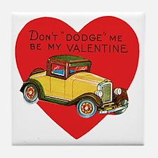 Vintage Valentine's Day Tile Coaster