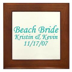 CUSTOM - Beach Bride Framed Tile