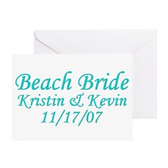 CUSTOM - Beach Bride Greeting Card