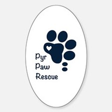 Cute Great pyrenees Sticker (Oval)