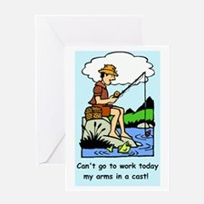 Funny arms in a cast Greeting Cards