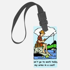 Funny arms in a cast Luggage Tag